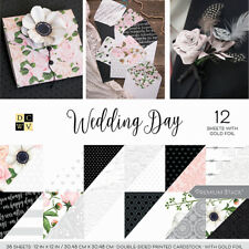 "American Crafts Card Stock 12"" X12"" Wedding Day Premium Printed Cardstock Stack"