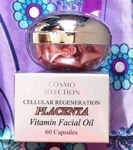 Cellular Regeneration Placenta Vitamin Facial Oil 60 Capsules Made in USA.