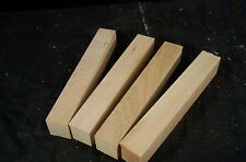 4 Piece Black Cherry Lathe Turning Spindle Blanks 1 1/4 Sq. x 8 1/2 Inch