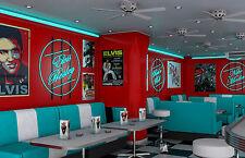 Framed Print - American Diner (Picture Elvis Marilyn Monroe Sinatra James Dean)