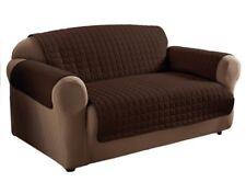 Textile Microfiber Loveseat Furniture Protector, Chocolate