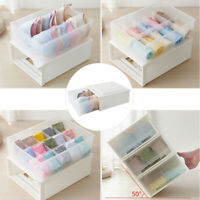 Translucent Bra Socks Cosmetic Storages Organizer Box Drawer Stackable Container