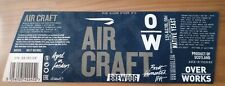 Brewdog Overworks Air Craft Bottle Label