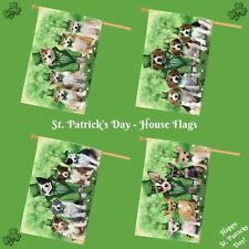 St. Patrick Day House flag, Dogs, Cats, Pet Photo Lovers Flag Gift, Home Decor