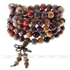 Assorted Wood Mala Bracelet Necklace Men's Buddha Prayer Meditation Natural