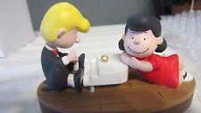 """1996 Hallmark QLX7394 """"Peanuts - Schroeder & Lucy"""" Ornament"""