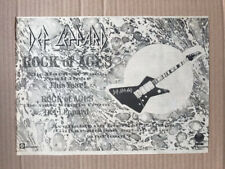 More details for def leppard rock of ages memorabilia original music press advert from 1983  - pr