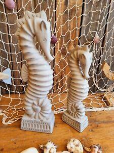 XL Seepferdchen 42/33 cm Keramik Maritime Deko Seepferd Garten Meer Tier