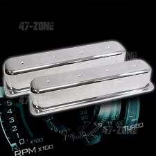 Tall Polished Center Bolt Valve Covers No Holes For 87 97 Chevy 50l 57l