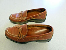 "Cole Haan ""Country"" brown leather, boat shoe style driving shoes, Men's 8.5 M"