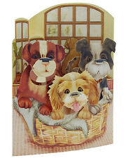 3D Swing Cards by Santoro - PUPPIES IN A BASKET - SG-SC-150