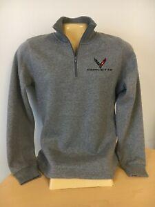 Corvette C8 Ladies Quarter 1/4 Zip Ladies Sweatshirt