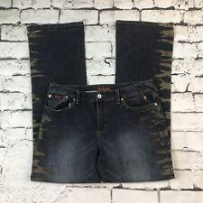 Baby Phat Jeans Jr Sz 15 Splash Side Stripes On Legs
