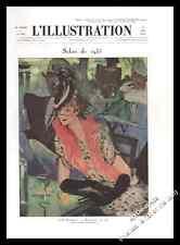 1935 Montmartre au café par J.G DOMERGUE original français vintage print-U