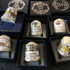 6 Collectible Beautiful Royal Celebration Thimbles By Sutherlands Boxed