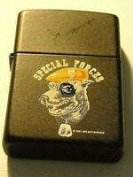 Zippo Lighter- Black Matte SPECIAL FORCES - 1991.NEAR MINT COND. LOOKS UNUSED