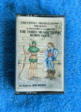 THE THREE MUSKETEERS / ROBIN HOOD Cassette Tape Storyteller Greathall Jim Weiss