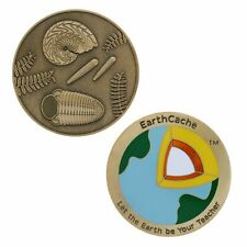 Official EarthCache™ Geocoin and tag set Geocaching Trackable