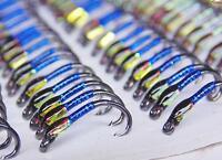 3X Black & blue hollo buzzers traffic light cheeks size 12 trout flies best Fly