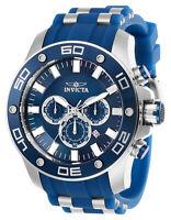 Invicta 26085 Men's Pro Diver Chronograph Steel & Blue Strap Watch