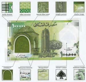 Lebanon 2020 Commemorative Banknote Grand Liban Polymer UNC Shipping From Canada