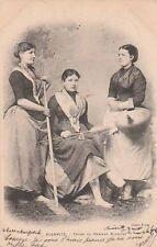 -Carte Postale ancienne Types de Femmes Basques Biarritz (Pyrénées-Atlantiques)