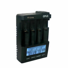 Opus V2.2 US126488801M Digital 4-Slot LCD Battery Charger - Purplish Blue