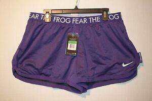 Nike Womens TCU Texas Christian University Fear The Frog Dri-FIT Mesh Shorts NWT