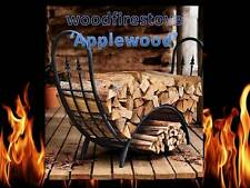 Firewood Storage Rack - Fire Log holder 'Applewood' Curved Wrought Iron Alfresco