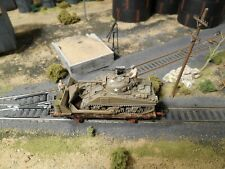 HO Roco Minitanks Patton's 3rd Army Railway Car #A953 Hand Painted