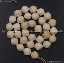 Natural Gemstones Multi-Faceted Beads Crystal Quartz Jasper Lapis 12mm 15.5''