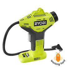 PORTABLE AIR COMPRESSOR Ryobi 18 Volt Cordless Car Bike Tire Power Inflator Pump