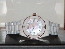 Pre-Owned  Invicta 10259 White Ceramic Mother of Pearl Sport Analog Quartz Watch