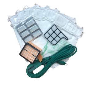 kit ricambi per Folletto VK135 VK136 sacchetti, filri, Cavo e profumi OMAGGIO