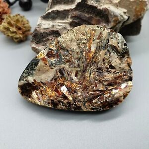 19,86, Astrophyllite Russian Rought raw Star Golden stone Natural Astrophyllite