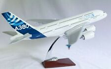 Airbus  A380 With Led Cabin Lights & Wheels  Stand Apx 45Cm Resin Rechargeable