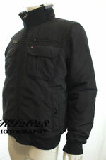 Tommy Hilfiger Hombres Chaqueta negra cuello forrado de piel Ken Bomber Abrigo Talla L Rrp £ 190