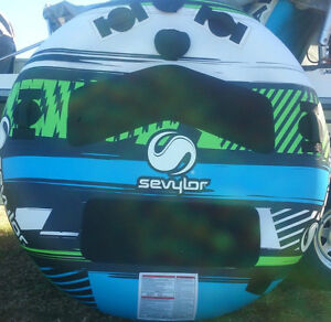 water ski tube clutch NEW huge 2 person latest sevylor