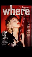 Madonna Los Angeles Where Magazine Oct 2015 Rebel Heart Tour RARE & Brand new