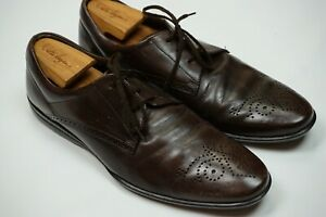 Tod's Dark Brown Broque Toe Leather Low COMFORTABLE Dress Shoes Sz 9