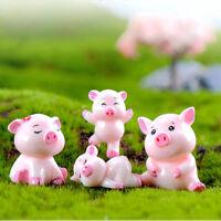 Garden Home Decor Micro Pig Family Resin Ornaments Miniature Model Figurine
