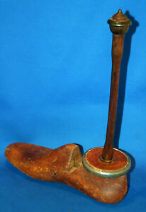 An interesting vintage shoe last toilet or kitchen roll holder, doorstop, wooden