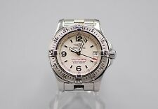 Ladies Breitling 1884 Colt Oceane Watch Stainless Steel Ivory White Dial