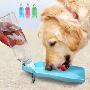 Portable Collapsible Dog Dispenser Feeder Pet Dog Travel Drink Bottle Bowl 500ML