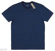 *NEW* J.Crew Men's Medium Ringer Tee in Bright Nightfall Stripe - Navy Blue