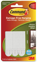 3M Command Medium Picture Hanging Strips White Damage Free