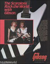 The Scorpions Rudy Schenker Matthias Jabs 1984 Gibson Explorer Guitar 8 X 11 ad