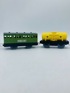 Thomas & Friends Trackmaster Works Unit Coach Car & Tanker Car