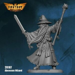 Abcessus Wizard  28187-FL First Legion Unpainted 28mm Resin Fantasy Castings