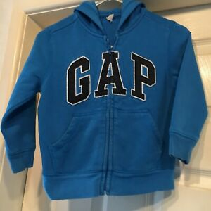 Baby Gap Boys Gray Cream Navy Blue GAP 1969 Logo Pullover Sweatshirt Size 5 5T